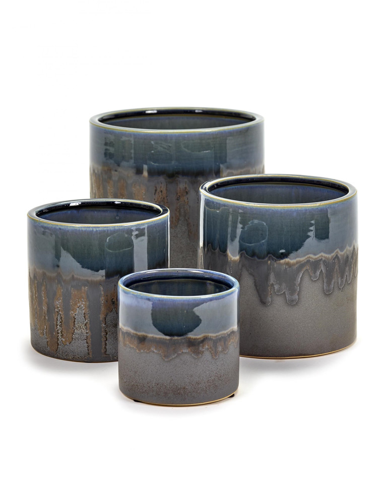 Misty Blue Glaze pot fra Serax