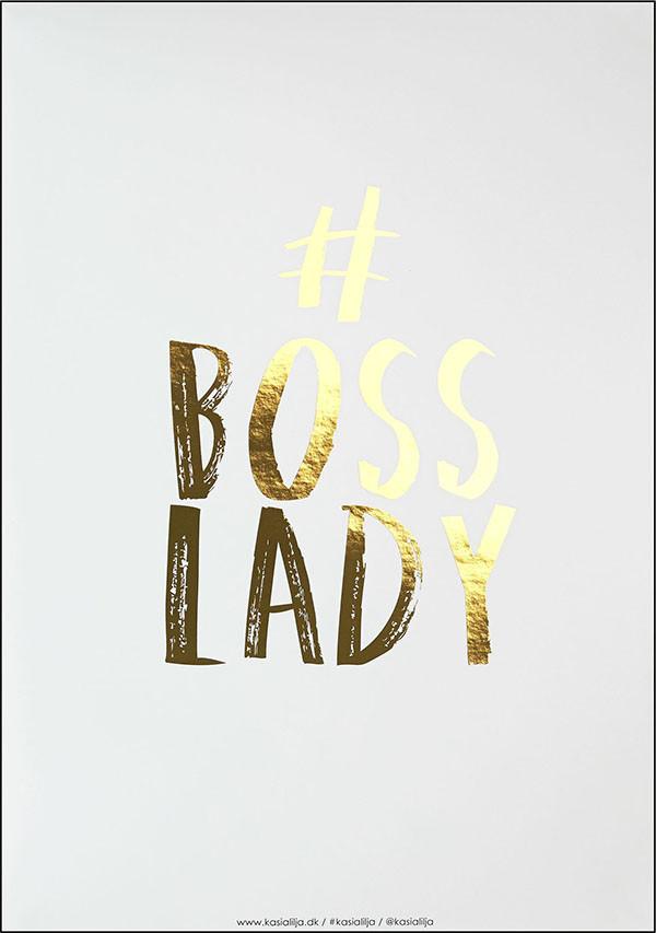 Boss Lady guld plakat af Kasia Lilja