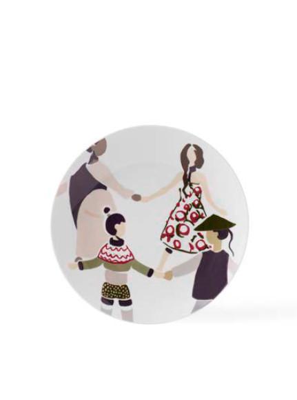 Alverdens Børn tallerken mega decor Ø23