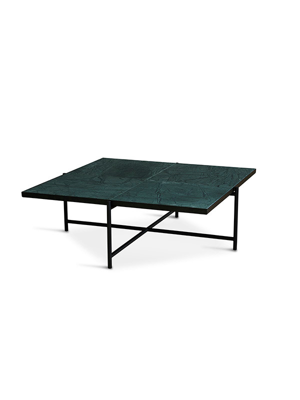 Coffee Table 90, grøn marmor fra Handvärk