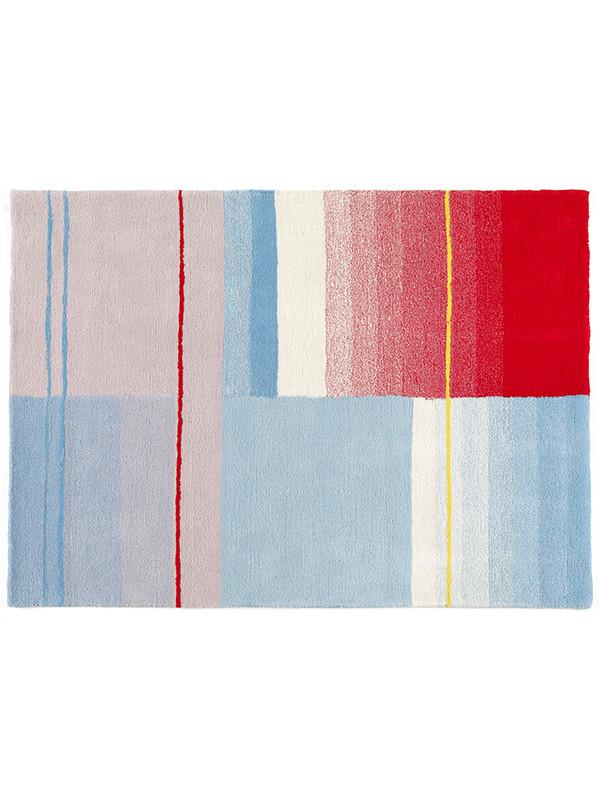 Colour tæppe, blå/rød/cream fra Hay