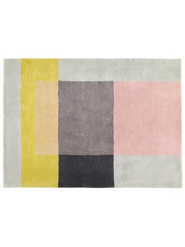 Colour tæppe, grå/rose/gul fra Hay
