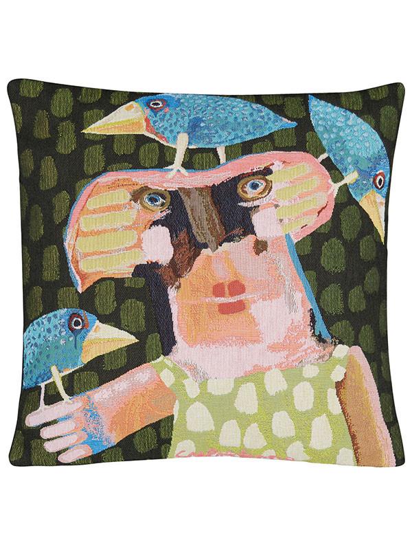 Sylvester Dame Med Torpedofugle pude fra Poulin Design