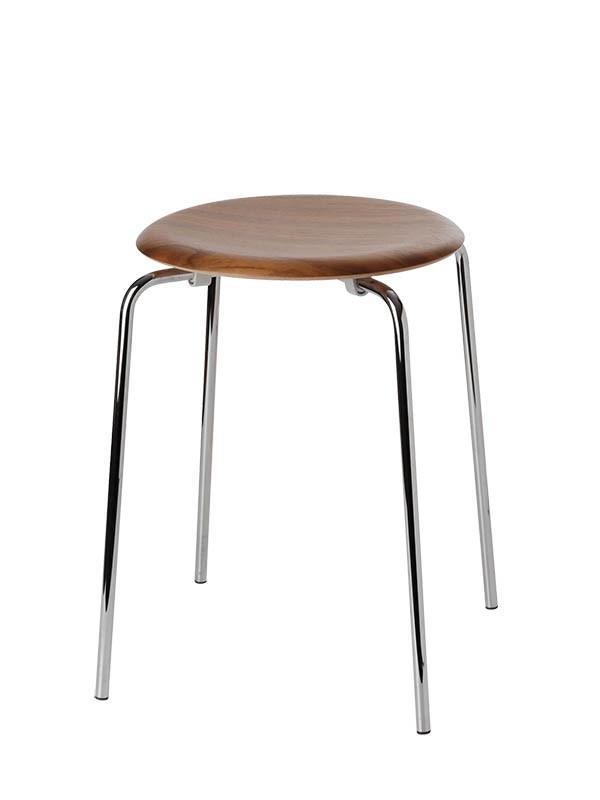 Dot skammel i valnød finer af Arne Jacobsen