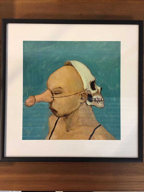 Fool nr. 15, indrammet postkort af Michael Kvium