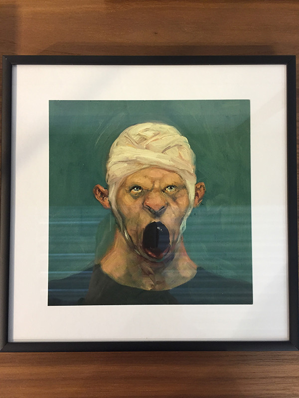 Fool nr. 5, indrammet postkort af Michael Kvium