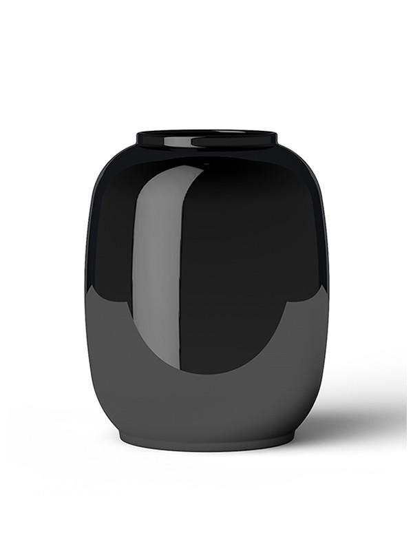 Form 140 vase, sort fra Lyngby Porcelæn