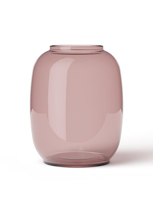 Form 140 vase, rød fra Lyngby Porcelæn