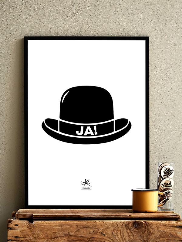 Ja Hat plakat af Kasia Lilja