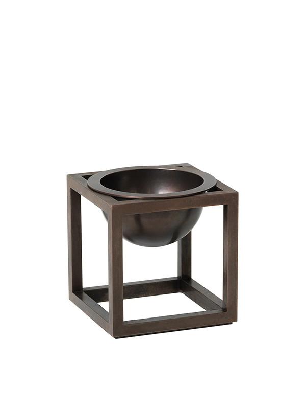 Kubus Bowl Mini bruneret kobber fra By Lassen