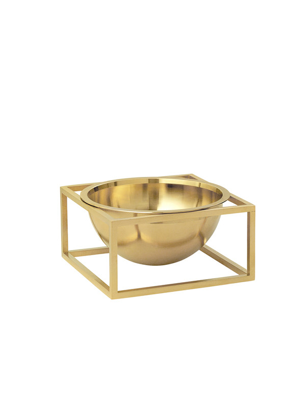 Kubus Bowl Centerpiece small messing fra By Lassen