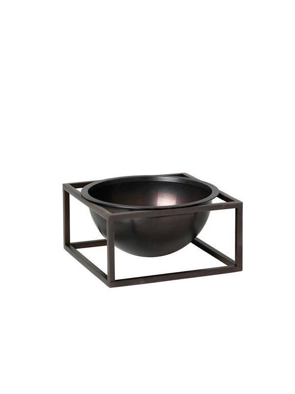 Kubus Bowl Centerpiece small bruneret kobber fra By Lassen