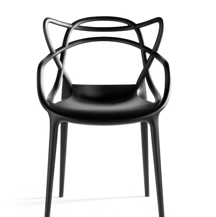 Masters stol i flere farver, fra Kartell af Philippe Starck