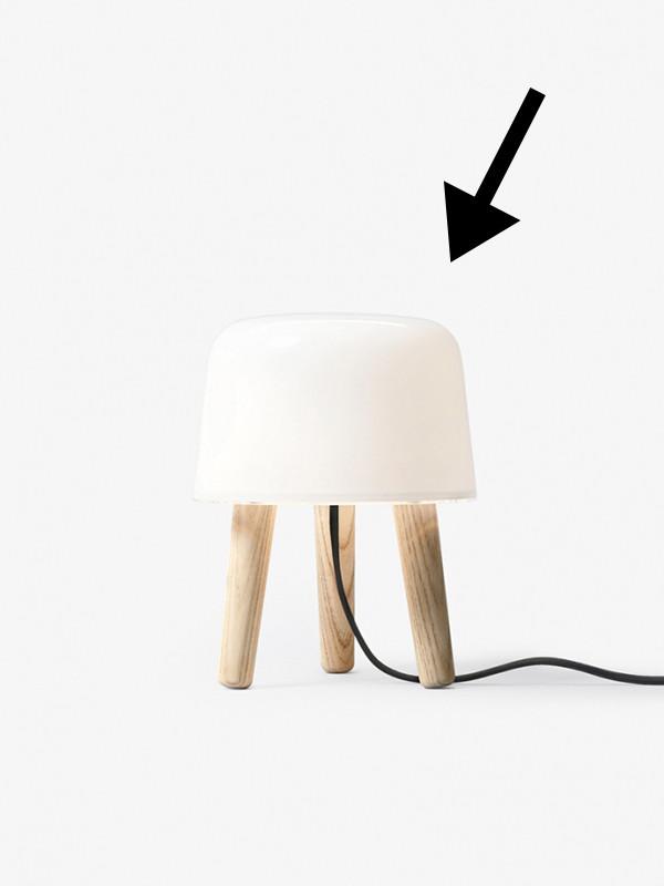 Skærm til Milk bordlampe fra Andtradition