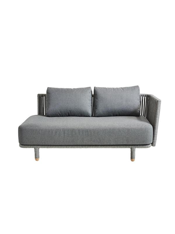 Moments 2 pers. sofa venstre inkl. hynder fra Cane-line