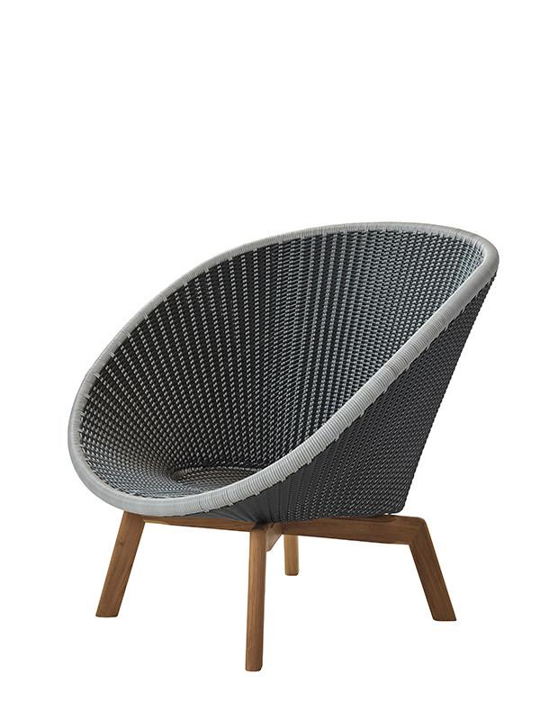 Peacock lounge stol fra Cane-line
