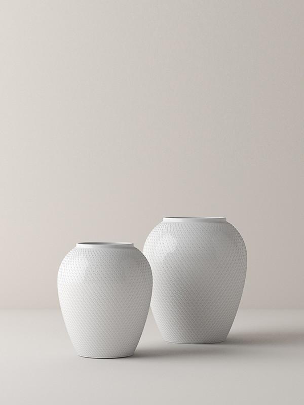 Rhombe vase fra Lyngby Porcelæn