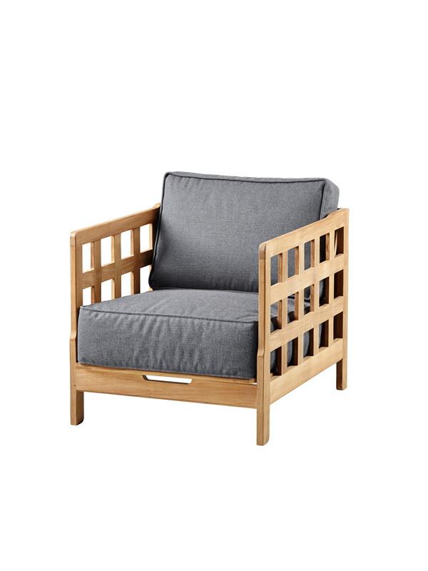 Square lounge stol inkl. hynde fra Cane-line