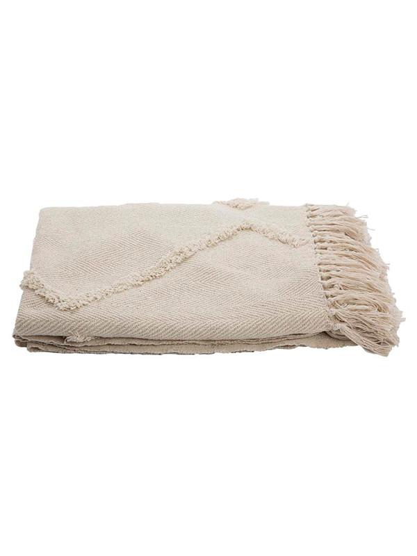Zigzag tæppe – Off white fra A. U Maison