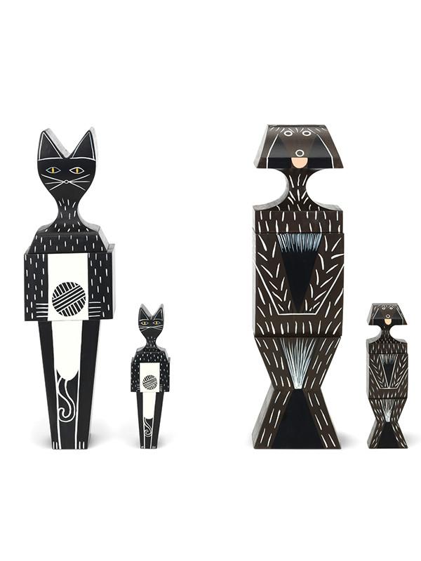 Wooden Doll, Cat & Dog fra Vitra