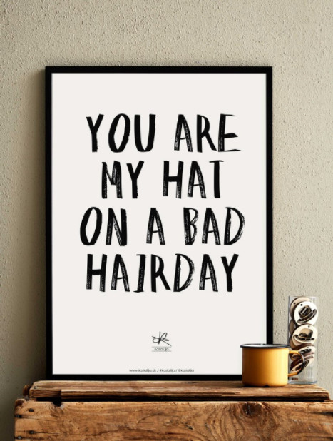 Bad Hairday plakat af Kasia Lilja