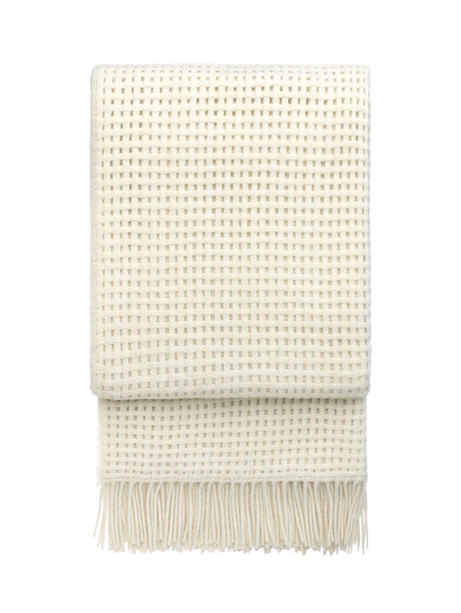 Basket plaid, off white fra Elvang
