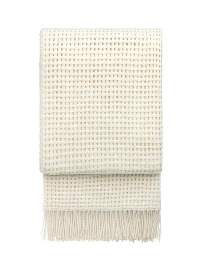 Basket plaid, off white fra Elvang