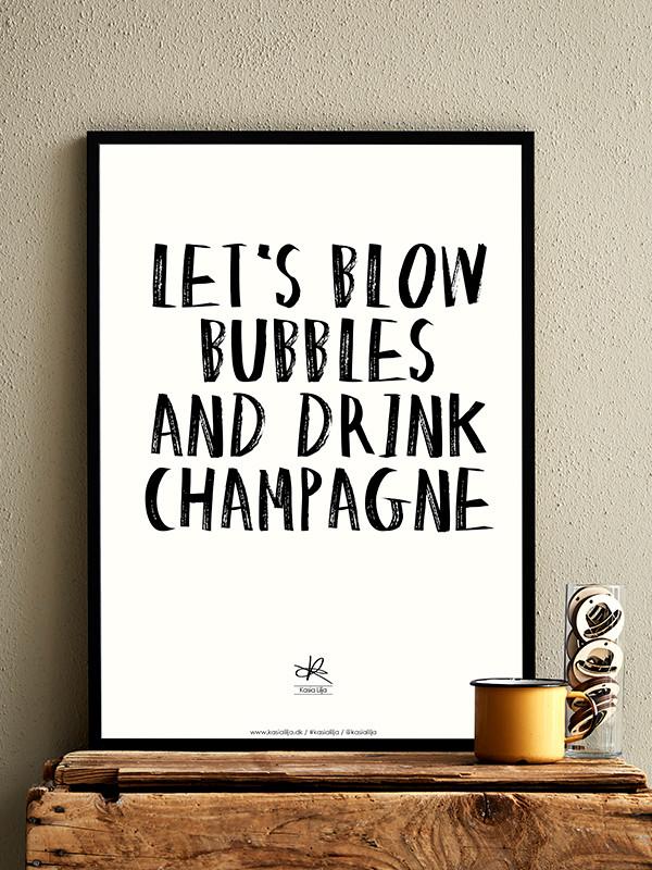 Let´s Blow Bubbles plakat af Kasia Lilja