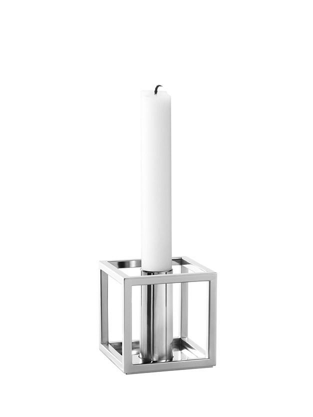 Kubus 1 nikkel lysestage fra By Lassen