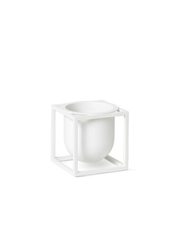 Kubus Flowerpot 10, hvid fra By Lassen