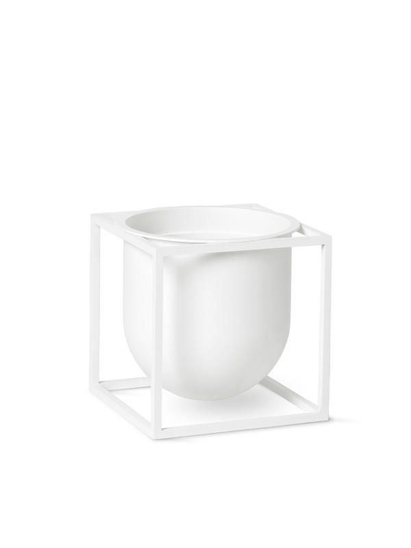Kubus Flowerpot 14, hvid fra By Lassen