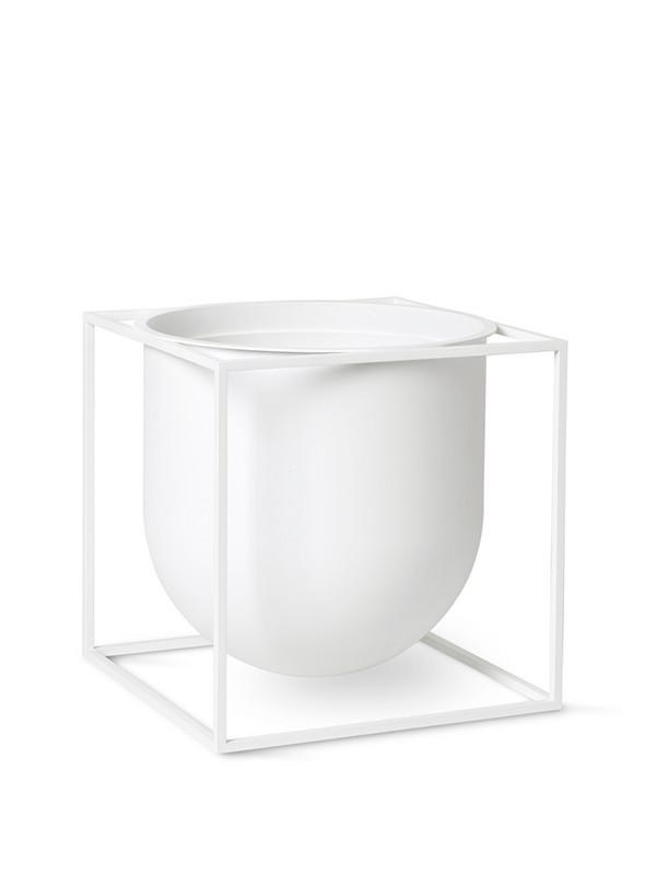 Kubus Flowerpot 23, hvid fra By Lassen