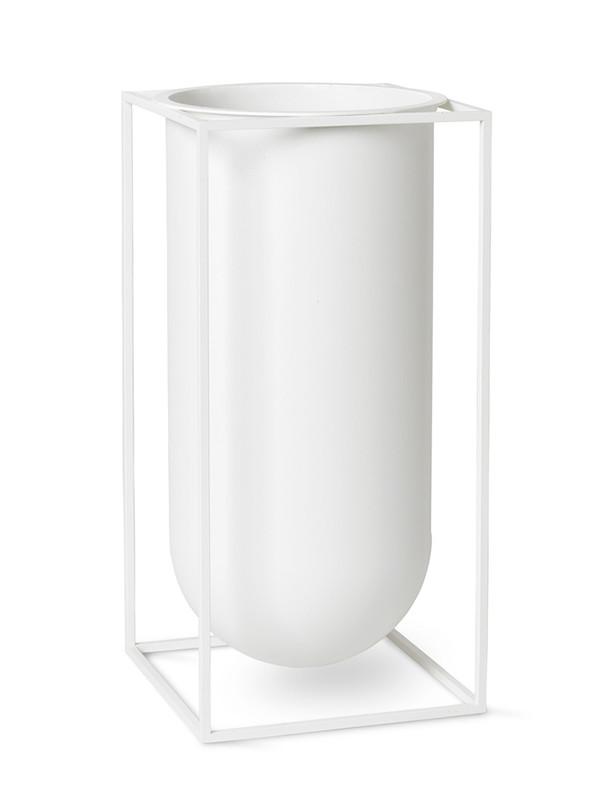 Kubus vase Nolia i hvid fra By Lassen
