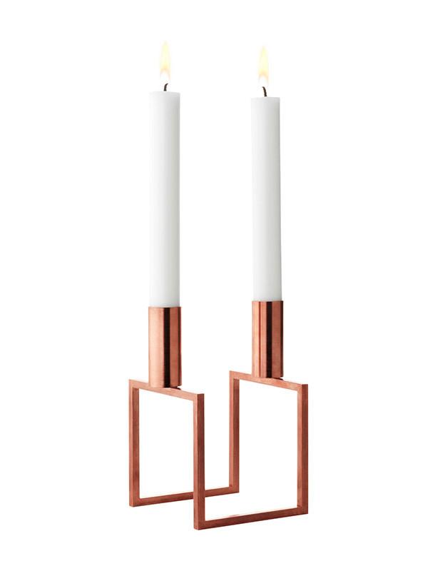 Line kobber lysestage fra By Lassen