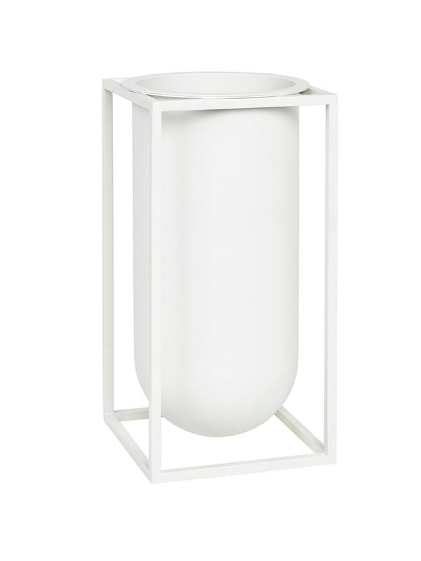 Kubus vase Lolo i hvid fra By Lassen