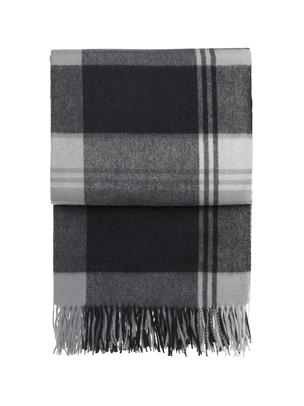 Cityscape plaid, dark grey fra Elvang