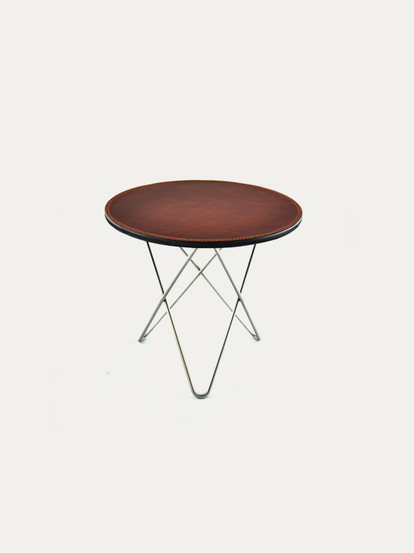 Mini O Table leather fra OX Denmarq