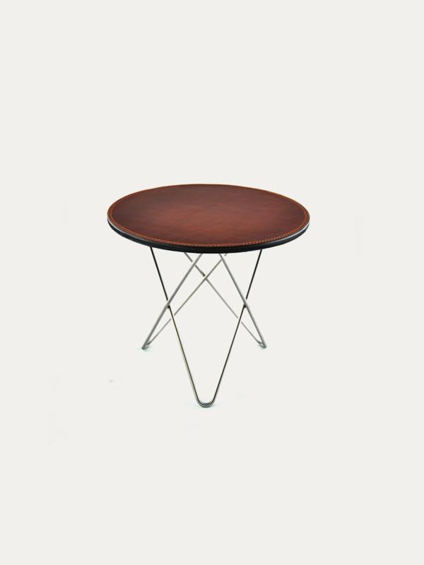 Mini O Table leather fra OX Denmarq