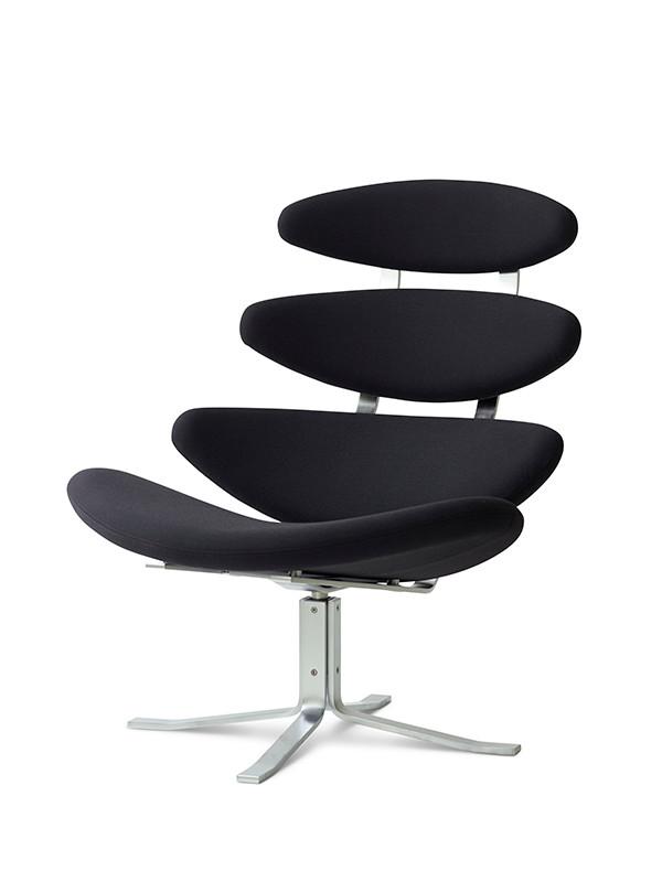 Tilbud på Corona stol med Hallingdal stof fra Erik Jørgensen