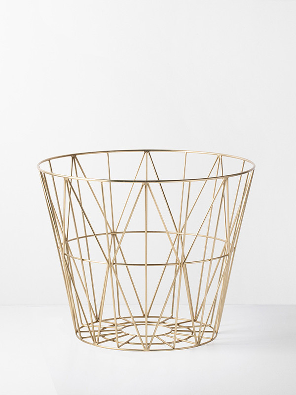 Wire basket i messing fra Ferm Living
