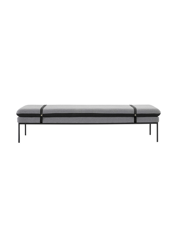 Turn daybed (wool black leather straps) fra Ferm Living