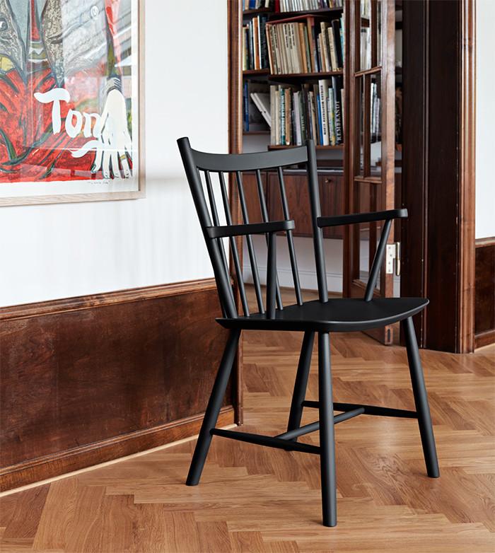 HAY FDB J42 armstol af Børge Mogensen Mat lakeret eg