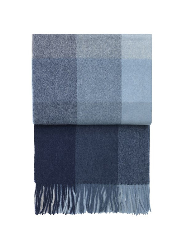 Inca Stones plaid, dusty navy fra Elvang