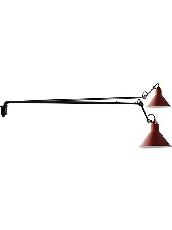 Nr. 213L dobbelt væglampe fra Lampe Gras