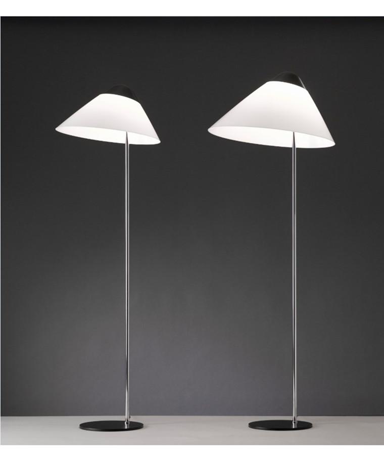 Opala gulvlampe af Hans J. Wegner