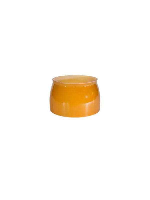PH 3½-3 underskærm i ravfarvet glas fra Louis Poulsen