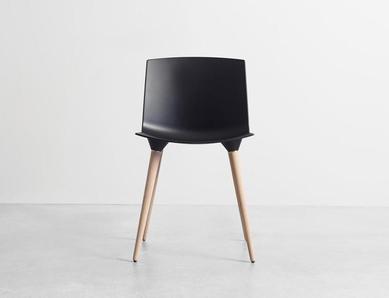 TAC - The Andersen Chair - Spisestol, sort skal
