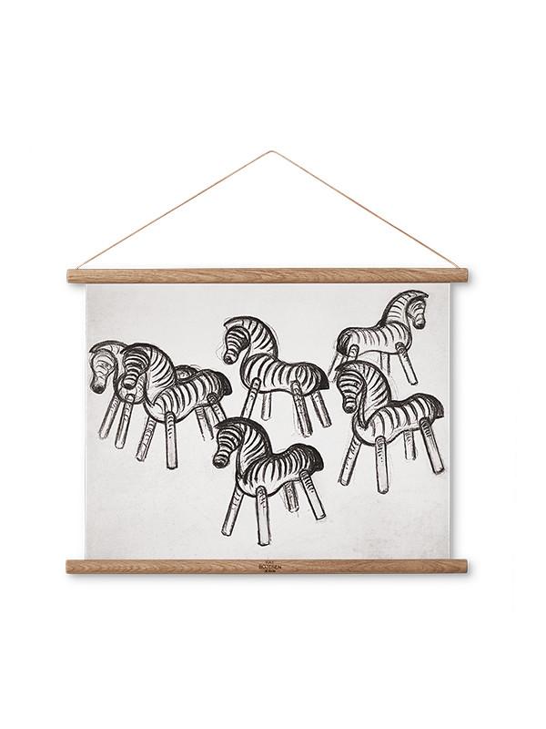 Zebra skitse af Kay Bojesen