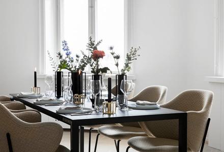 Kubus vase Flora i sort fra By Lassen
