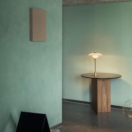 PH 3/2 bordlampe, messing metalliseret fra Louis Poulsen